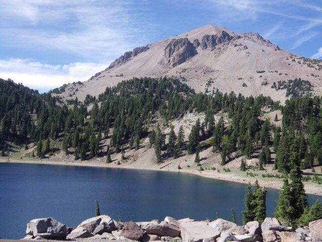 Lake Helen, a cirque lake at Lassen Volcanic National Park, California. Mr. Lassen was one of the most impressive -- and least crowded -- of the national parks we visited.