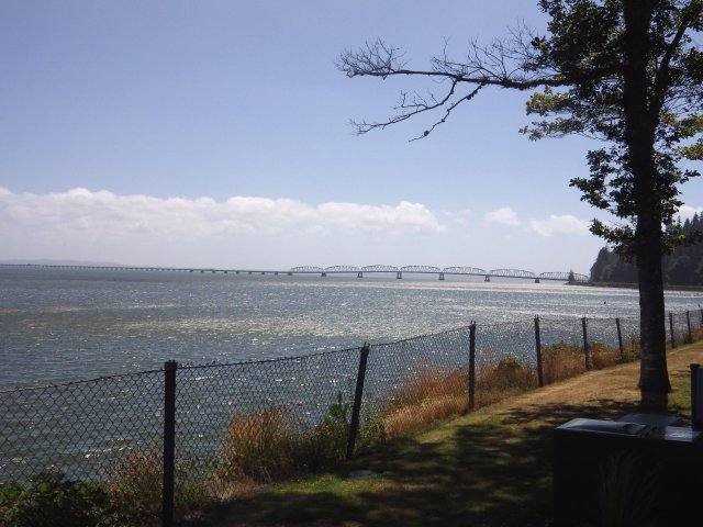 """Lewis and Clark called this place """"Dismal Niche"""" when they were weathered in here for five days. On a nice day, though, it offers a great view of the Megler Bridge to Astoria, Oregon."""