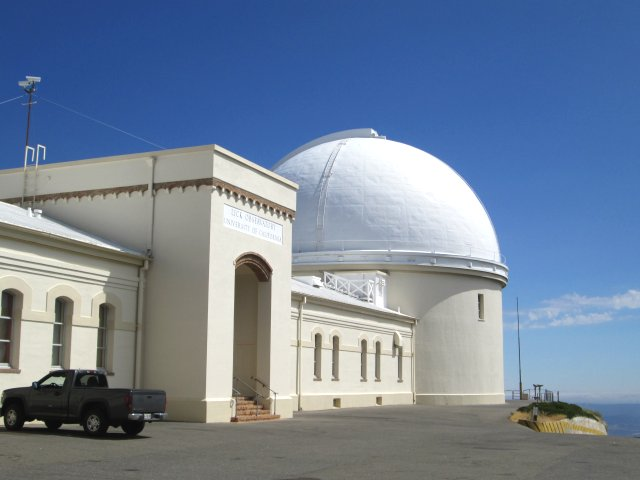 Lick Observatory, located atop Mt. Hamilton near San Jose, California is the home of the second-largest refracting telescope in the world, now over a hundred years old.