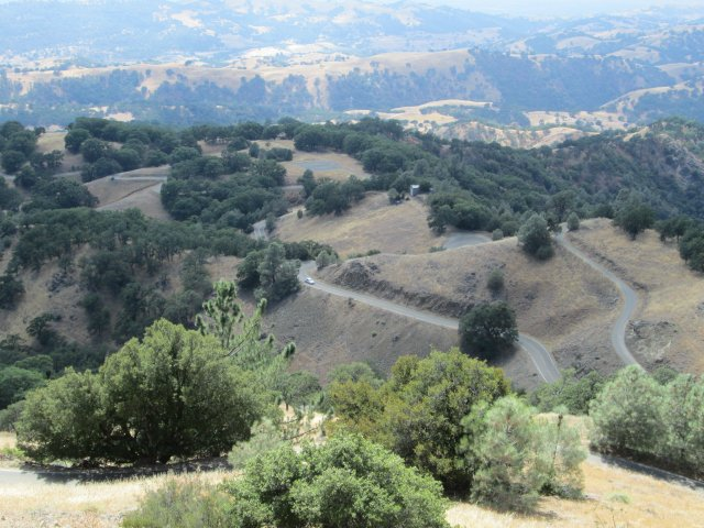 Driving up to Lick Observatory is an adventure in itself. The road twists and climbs more than any other road we traveled -- and with fewer guard rails!