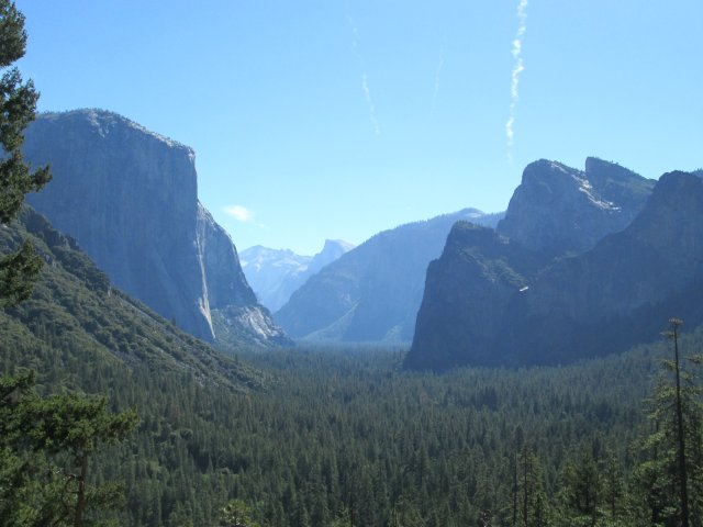 This may be the most famous view of Yosemite Valley -- and there must be millions of pictures taken from the rest stop there, including one by Ansel Adams.