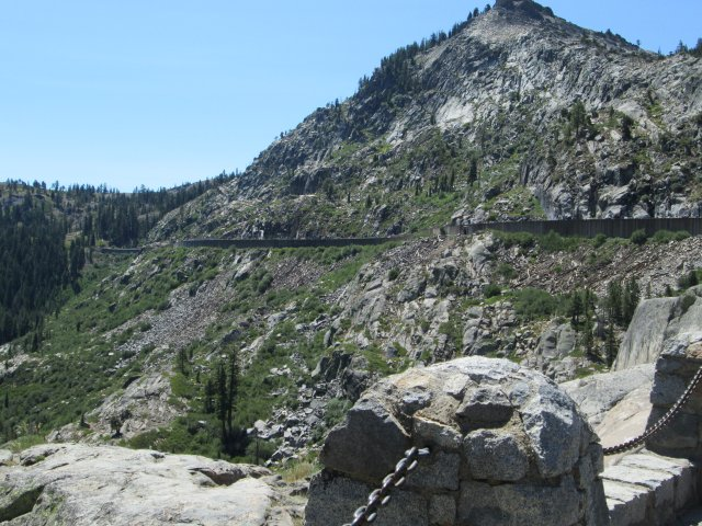 The snows on Donner Pass, Calfornia are so heavy the railroads had to build snowsheds so they could keep operating. The pass still provides a critical route over the Sierras.