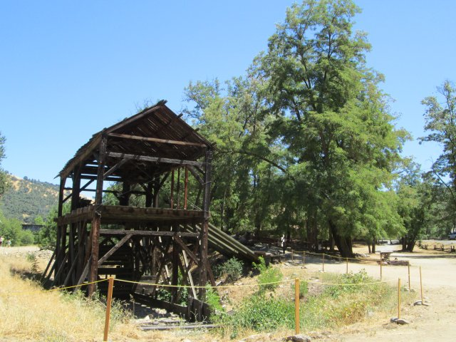 John Marshall State Park is the location of this replica of Sutters Mill, located only yards where the big California gold strike in the 1840s was made.