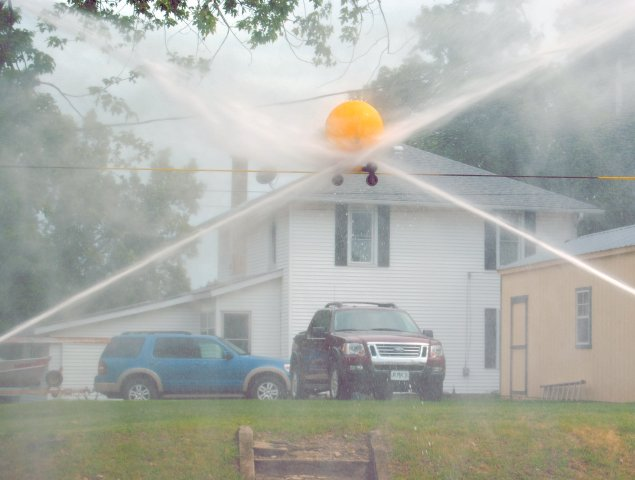 Firefighter's waterball contest