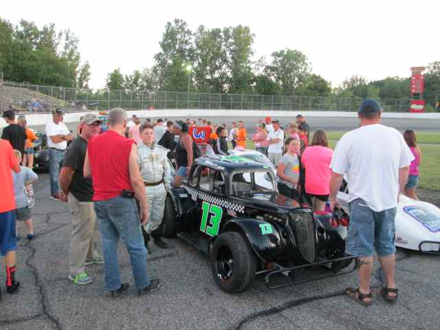 Autograph night at race track