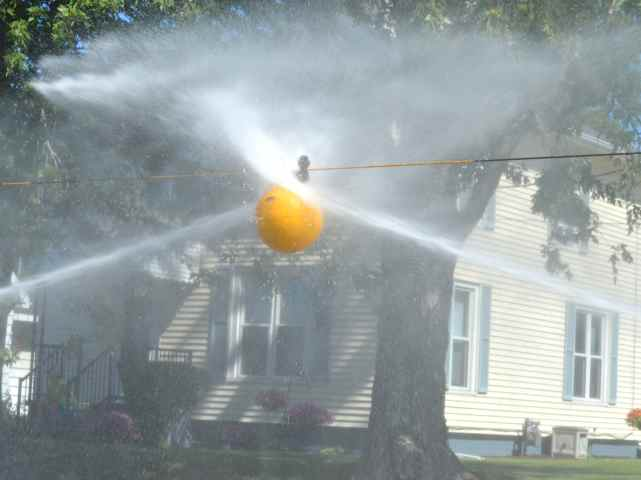 Fireman's waterball contest